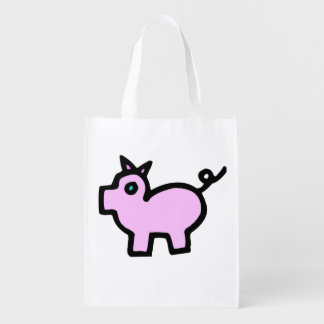 doodle wallie wear pig shopping bags grocery bag