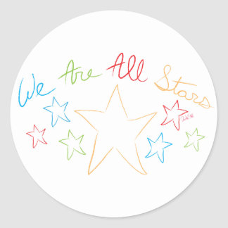 """Doodle """"We Are All Stars"""" Stickers"""