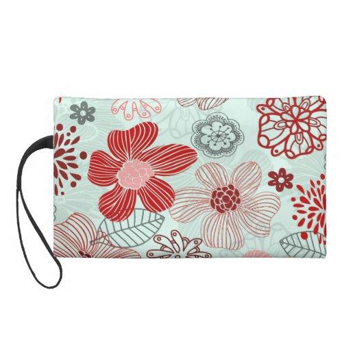 doodle wristlet purse