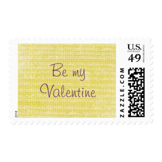 Doodled Hearts Love Words XOXO Postage Stamps