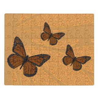 Doodled Monarch Acrylic Puzzle