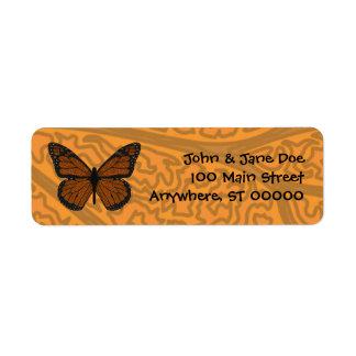 Doodled Monarch Address Label