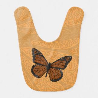 Doodled Monarch Baby Bib