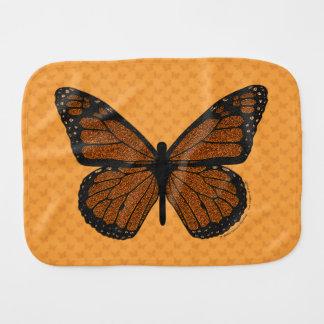 Doodled Monarch Burp Cloth