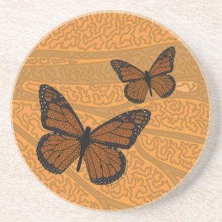 Doodled Monarch Coaster