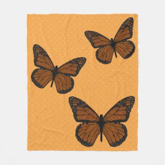 Doodled Monarch Fleece Blanket