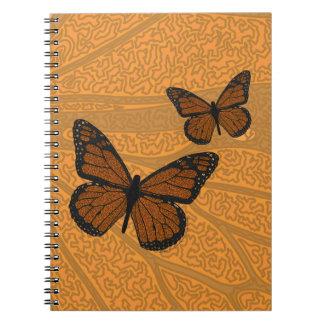Doodled Monarch Notebook
