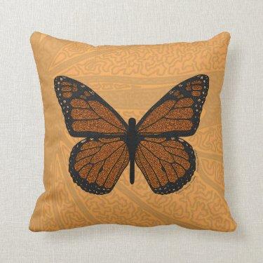 Doodled Monarch Pillow