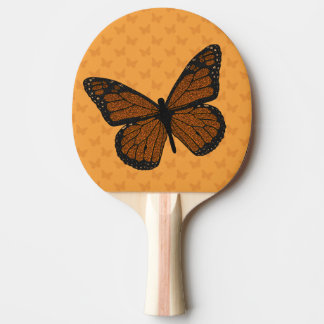 Doodled Monarch Ping Pong Paddle