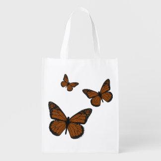 Doodled Monarch Reusable Grocery Bag