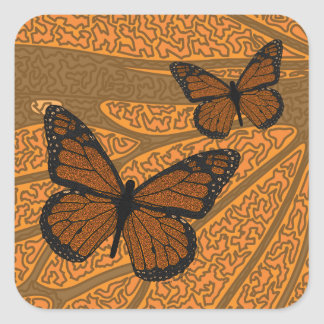 Doodled Monarch Sticker