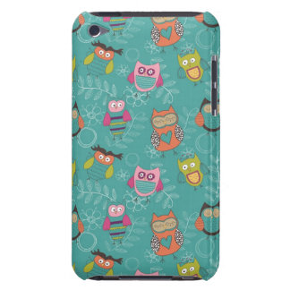 Doodled Owls on Teal Case-Mate iPod Touch Case