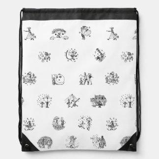 Doodles 1 drawstring backpack