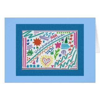 Doodles a montones tarjeta de felicitación