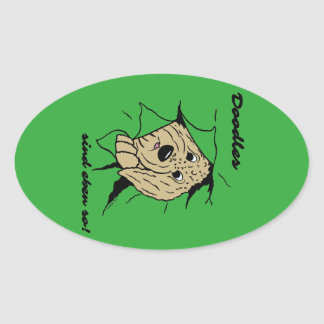 Doodles are just like that! oval sticker