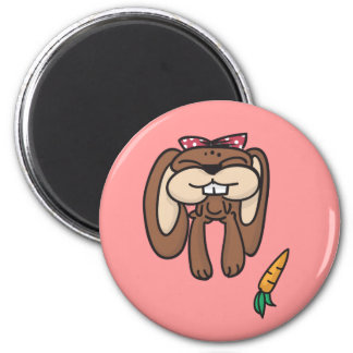 Doodles Bunny Round Magnet