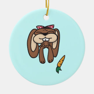 Doodles Bunny Round Ornament