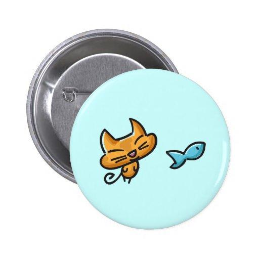 Doodles Cat Button