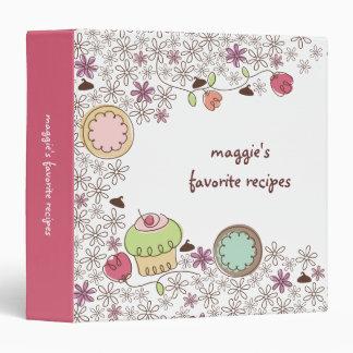 Doodles cookies cupcakes flowers bakery sweets 3 ring binder