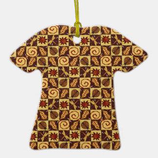 Doodles de la caída adorno de cerámica en forma de camiseta