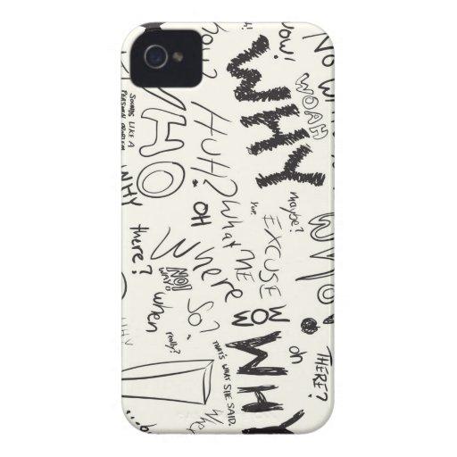 Doodles de la pregunta Case-Mate iPhone 4 funda