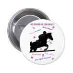 Doodles del caballo pin redondo 5 cm