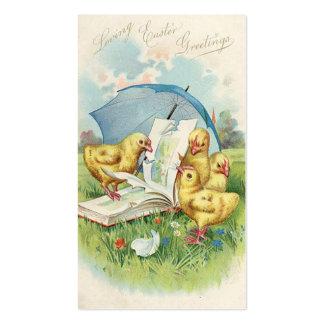 Doodles del día de fiesta del vintage de Pascua Tarjetas De Visita