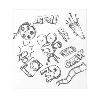 Doodles del entretenimiento bloc de notas