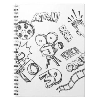 Doodles del entretenimiento libreta espiral