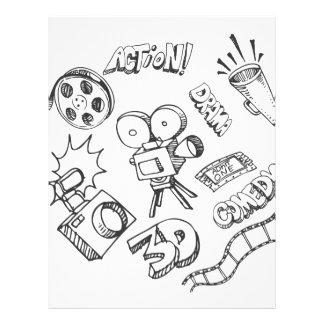 Doodles del entretenimiento membretes personalizados