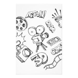 Doodles del entretenimiento papelería personalizada