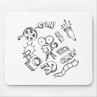 Doodles del entretenimiento tapetes de raton