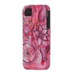 doodles del rosa Case-Mate iPhone 4 cover