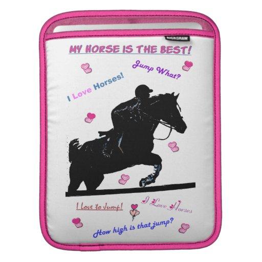 Doodles iPad/iPad2 del caballo o cubierta de Macbo Mangas De iPad
