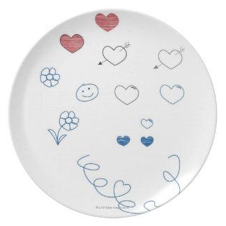 Doodles Melamine Plate