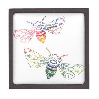 Doodles multicolores de la abeja cajas de regalo de calidad