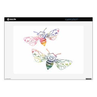 Doodles multicolores de la abeja portátil 38,1cm skin