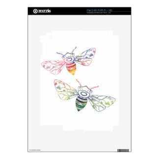 Doodles multicolores de la abeja skins para eliPad 2