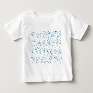 Doodles people baby T-Shirt