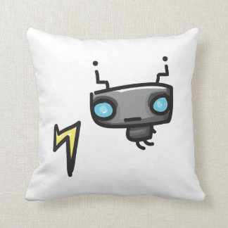 Doodles Robot Square Pillow