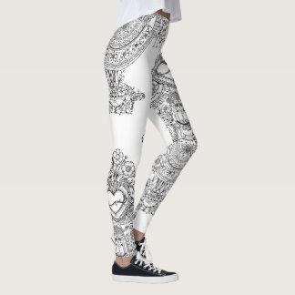 Doodles Skulls Tree leggins Leggings