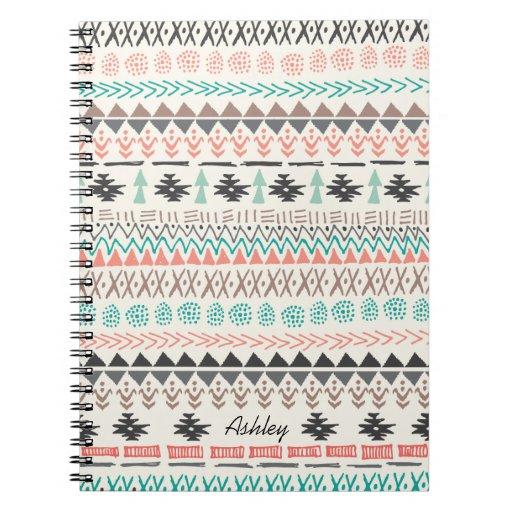 Doodles tribales de Ikat Notebook