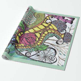 Doodlescape (menta) por Mendi Vernatter Papel De Regalo