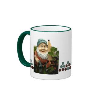 Doodlethumb the garden gnome ringer coffee mug