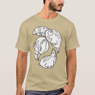 doodlish birds flying in a circle T-Shirt