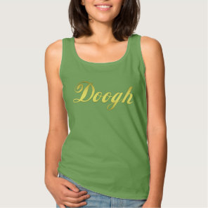 Doogh Golden Letter Yogurt Drink Tank Top