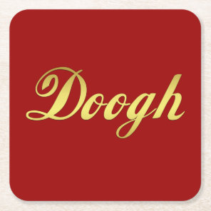 Doogh National drink of Iran Square Paper Coaster