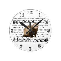 dooking ferret round clock
