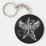 Doolin Run_Black & White Grunge Basic Round Button Keychain