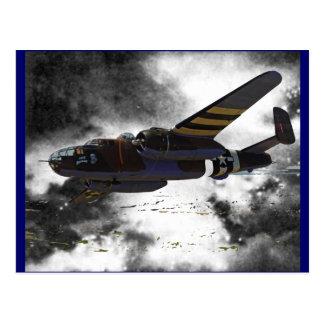 Doolittles Raiders B-25 Postcard